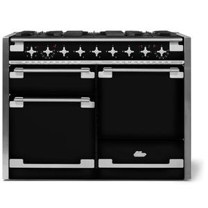 """AGAAga ELISE 48"""" Dual Fuel Model, Gloss Black"""