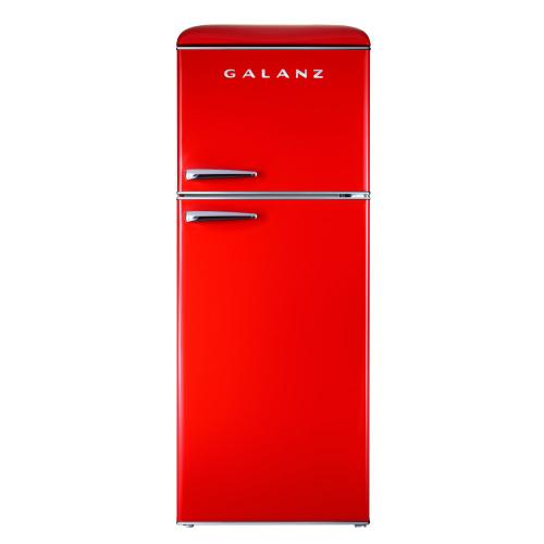 Galanz 10 Cu Ft Retro Top Mount Refrigerator in Hot Rod Red