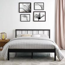 View Product - Gwen Queen Metal Bed Frame in Brown