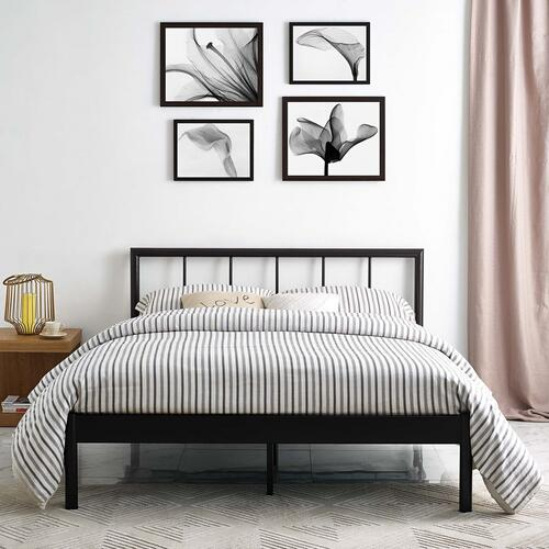 Modway - Gwen Queen Metal Bed Frame in Brown