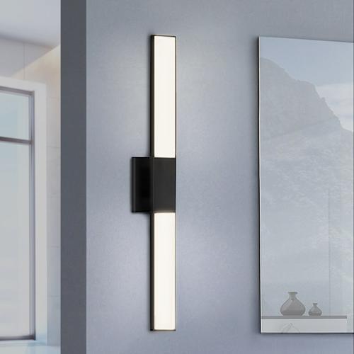 "Sonneman - A Way of Light - Planes LED Double Sconce [Size=32"", Color/Finish=Satin Black]"