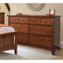 Modern Mission 6 Drawer Dresser