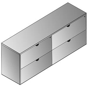 """Kenwood Double Lateral File Credenza 72""""x20"""""""