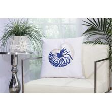 "Outdoor Pillows L1298 White 18"" X 18"" Throw Pillow"