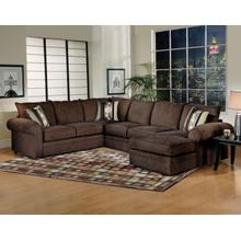 3pc Sectional Ridge Chocolate