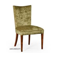 Biedermeier style mahogany dining side chair (Lime Green)