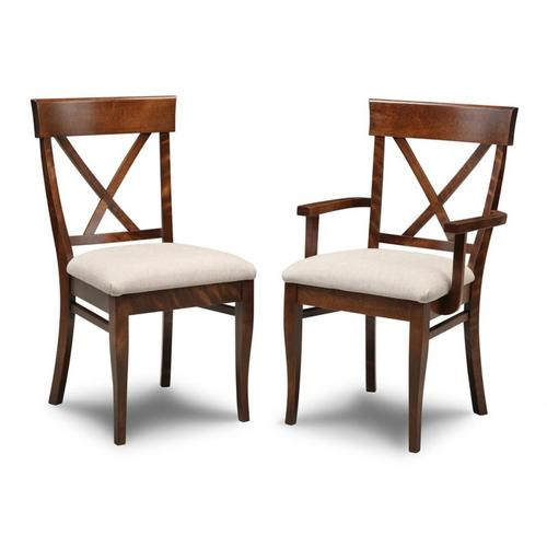 - Florence X Back Side Chair With Wood Seat
