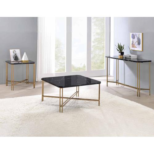 Daxton Faux-Marble Top Cocktail Table