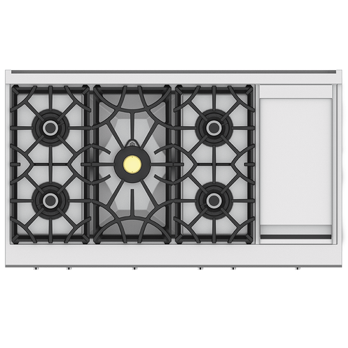 "48"" 5-Burner Rangetop with 12"" Griddle - KRT Series - Froth"