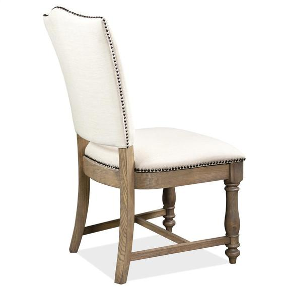 Riverside - Aberdeen - Upholstered Side Chair - Weathered Driftwood Finish