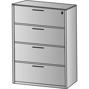 """Napa Four-drawer Lateral File 36""""x22""""x56"""