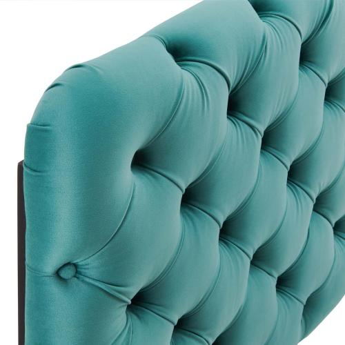 Modway - Lizzy Tufted Full/Queen Performance Velvet Headboard in Teal