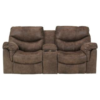 See Details - Alzena Reclining Loveseat With Console