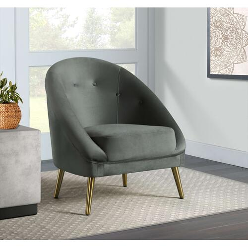 Trinity Accent Chair (gold stainless legs)