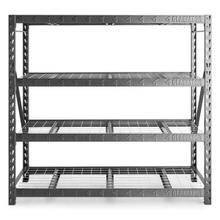 """View Product - 77"""" Wide Heavy Duty Rack with Four 24"""" Deep Shelves"""