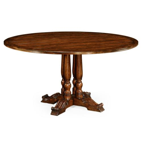 "60"" French round country dining table"