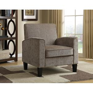 Upholstered Accent Chair in Taupe Chenille