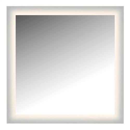 "LED Lighted Mirror Wall Glow Style With Frosted Glass To The Edge, 36"" X 36"" With Easy Cleat System"
