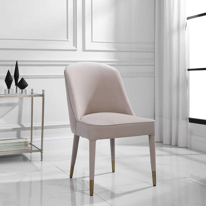 Uttermost - Brie Armless Chair, Champagne, 2 Per Box