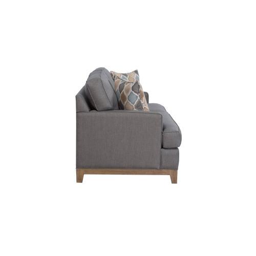 Capris Furniture - 3 over 3 Convo-Lux seat cushion Sofa w/ 5'' Plinth Base Available in Grey Wash, Cottage White, Royal Oak, Black Teak, White Teak, Vintage Smoke Finish.