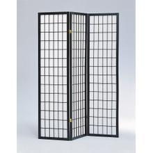 7034 BLACK 3-Panel Room Divider