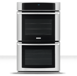 Electrolux - 27'' Electric Double Wall Oven with Wave-Touch® Controls