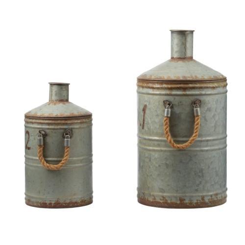 A & B Home - 39688  S/2 Patchin Metal Jugs