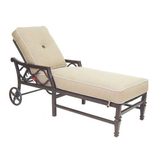Castelle - Villa Bianca Cushioned Chaise Lounge