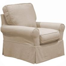 View Product - Horizon Slipcovered Swivel Rocking Chair - Color 466082