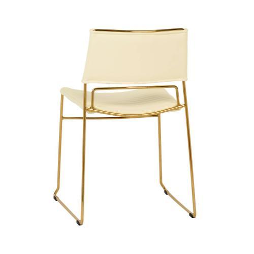 Tov Furniture - Domani Cream Vegan Leather Chair (Set of 2)
