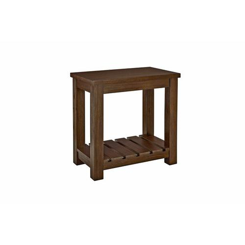 Highlands Side Chair Table, Brown