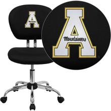 Appalachian State Mountaineers Embroidered Black Mesh Task Chair with Chrome Base