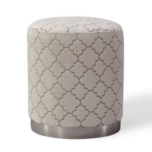 Tov Furniture - Opal Cream Morrocan Ottoman