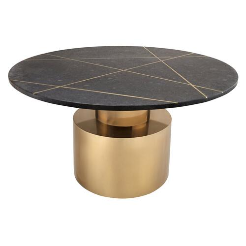Tov Furniture - Terzo Black Marble Coffee Table