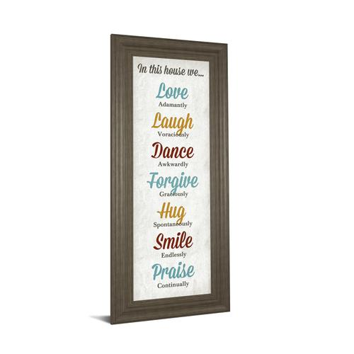 """""""In This House"""" By Sd Graphics Framed Print Wall Art"""