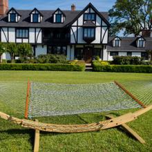 See Details - Large Original DuraCord Rope Hammock - Green Oatmeal Heirloom Tweed