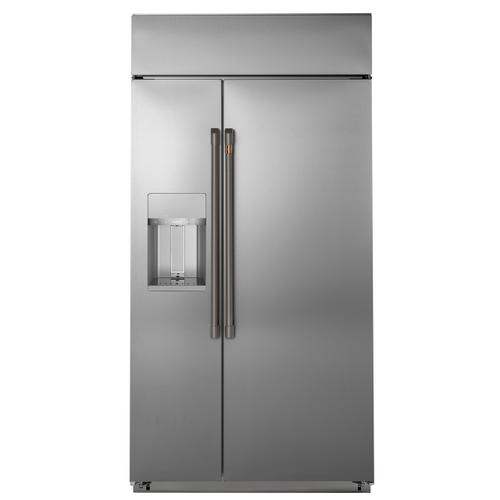 """Gallery - Café™ 48"""" Smart Built-In Side-by-Side Refrigerator with Dispenser"""