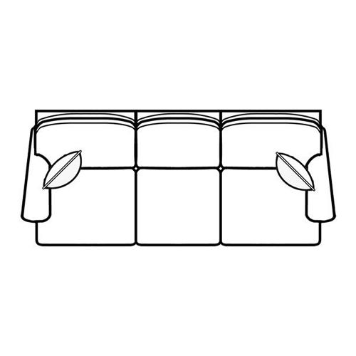 Stationary Right Facing Sofa 400 Series Stationary Selectionals