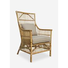 Winston Rattan High Back Arm Chair Natural - (24x27x43)
