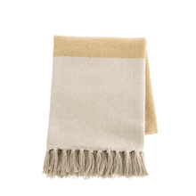 See Details - Ochre Color Block Woven Throw