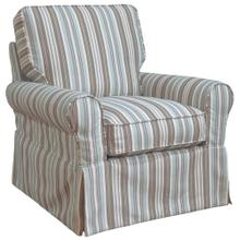 See Details - Horizon Slipcovered Box Cushion Swivel Rocking Chair - Color 395225