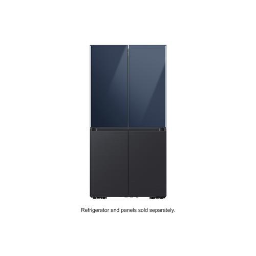 BESPOKE 4-Door Flex™ Refrigerator Panel in Matte Black Steel - Bottom Panel