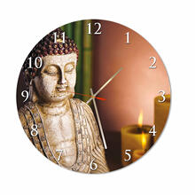 Buddha Round Square Acrylic Wall Clock