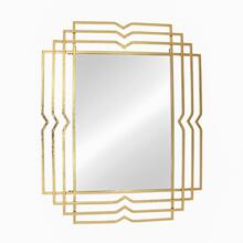"Metal 39"" Rectangular Mirror, Gold"