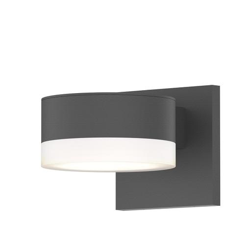 Sonneman - A Way of Light - REALS® Up/Down LED Sconce [Color/Finish=Textured Gray, Lens Type=Plate Lens and White Cylinder Lends]