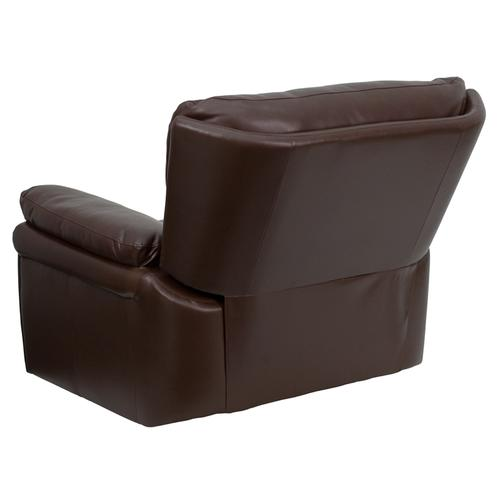 Extra Wide Brown Leather Rocker Recliner