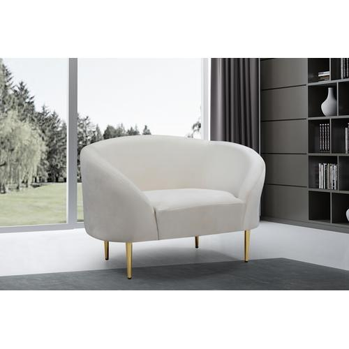 "Ritz Velvet Chair - 43.5"" W x 31.75"" D x 30.5"" H"