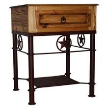 Texas Star Iron / Wood Night Stand
