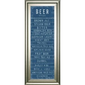 """Beer Styles"" By The Vintage Collection Framed Print Wall Art"