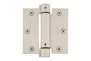 """3-1/2"""" x 3-1/2"""" Square Corners Spring Hinges, Plated Steel Product Image"""